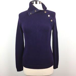 Ralph Lauren Button Up Turtleneck Sweater
